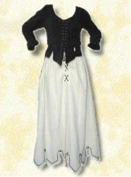 Ensemble corsage et jupe médiévale L/XL