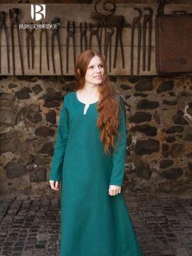 Robe en coton en vert XXL
