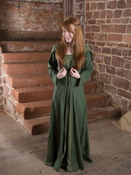 Robe médiévale Luna en vert 40