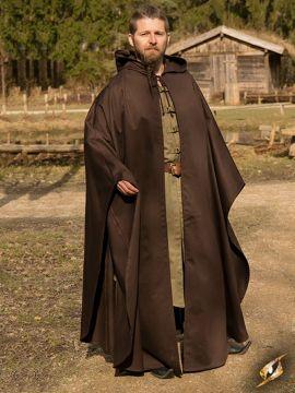 Cape à capuche Godfrey Twill en marron L/XL