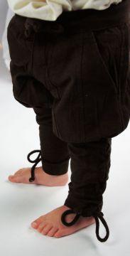 Pantalon médiéval enfant en marron XXXS