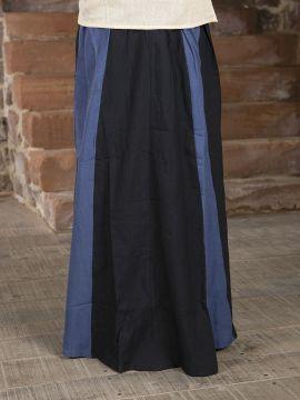 Jupe Médiévale bicolore noire et bleue XXL