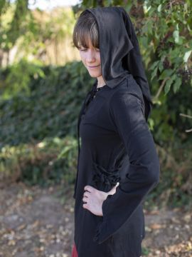 Blouse elfique en noir L