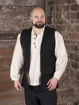 Veste feutre de laine, noire S/M
