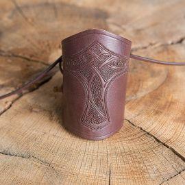 Brassards en cuir Marteau de thor marron
