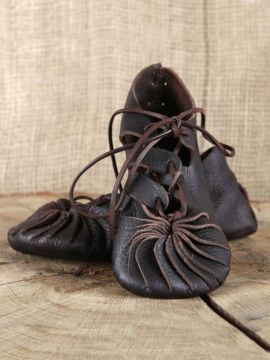 Ballerines médiévales pour enfants 29/30 | noir