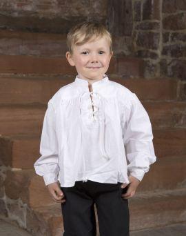Chemise blanche avec col lacé pour enfant moyen