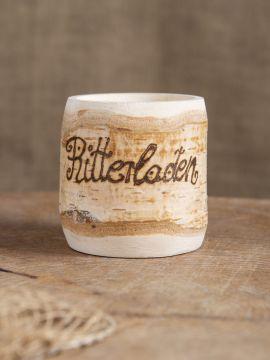 Tasse en bois de bouleau jusqu'à 10 caractères