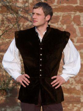 Veston médiéval Ludwig, en marron L