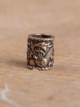 Grosse perle à cheveux, motif dragon à l'unité