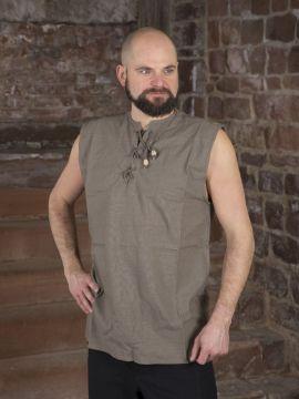 Chemise sans manche en gris XL