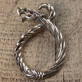 Pendentif dragon ½il de rubis bronze