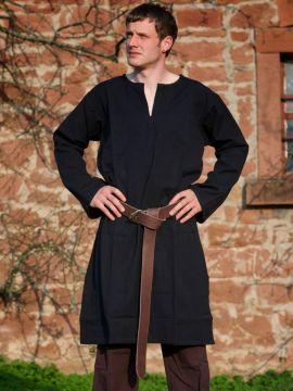 Tunique médiévale noire XL