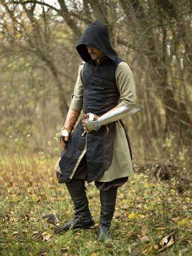 Manteau Altair marron-noir S/M