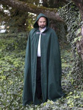 Cape unisexe en laine, en vert 131 cm