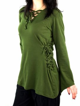Blouse elfique en vert XL