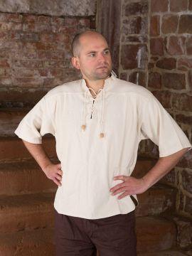 Chemise médiévale en coton M | blanc-écru