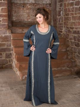 Robe médiévale bleue, lacée sur les côtés S | bleu
