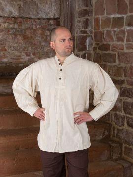 Chemise médiévale avec des boutons en bois XL