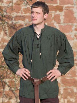 Chemise médiévale verte L