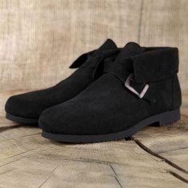 Chaussure en cuir chamoisé 39   marron