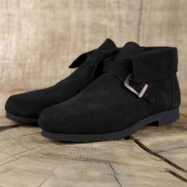Chaussure en cuir chamoisé 45 | noir