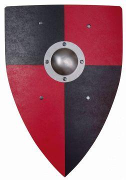 Bouclier Normand rouge/noir