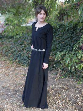 Robe médiévale simple, noire S