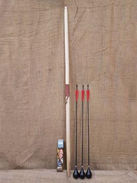 Ensemble Arc Longbow 60'' et trois flèches foncée