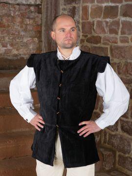 Veston médiéval en velours XXXL | noir