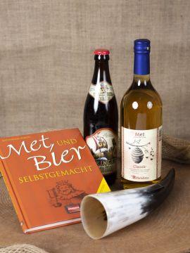 Coffret cadeau hydromel, bière et corne à boire