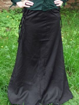 Jupe à lacets sur les cotés L/XL | noir