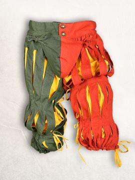 Pantalon fendu Lansquenet rouge et vert M