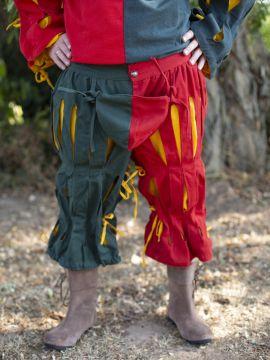 Pantalon fendu Lansquenet rouge et vert