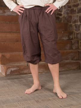 Pantalon médiéval court brun foncé S