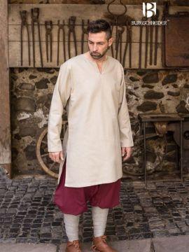 Tunique en coton peigné, couleur chanvre L