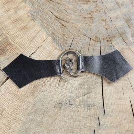 Boucle médiévale en métal à tête de dragon noir