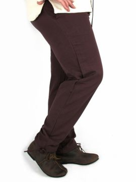 Pantalon médiéval serré aux chevilles, marron XXXL