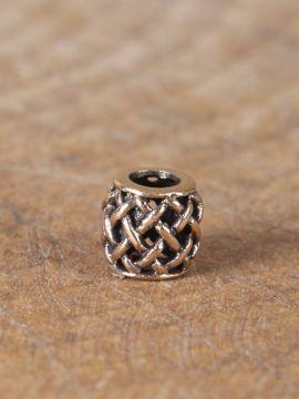 Perle Viking motif quadrillage en bronze