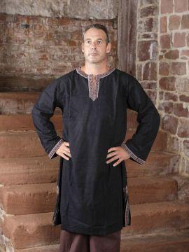 Tunique à galons en noir XL