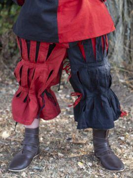 Pantalon fendu Lansquenet rouge et noir