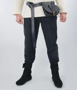 Pantalon médiéval de coton brut, noir XL