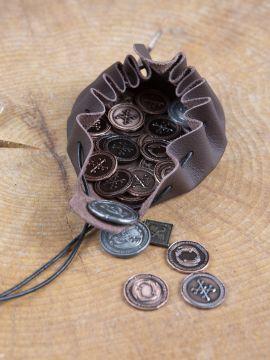 Pièces de monnaie GN Dragon avec pochette en cuir