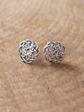 Boucles d'oreille noeud celtique en argent