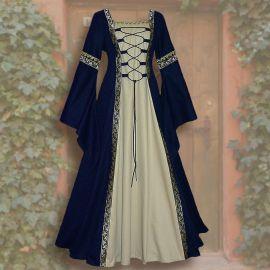Robe Iris bleue-sable 44 - 48