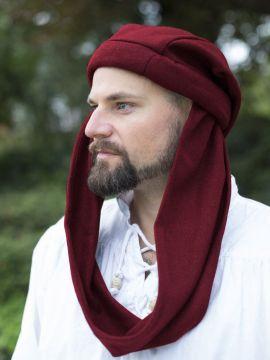 Chapeau sac en laine, rouge 64