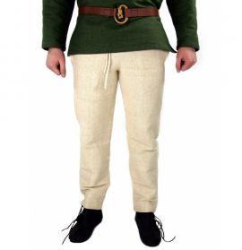 Pantalon médiéval de coton brut, chanvre XL