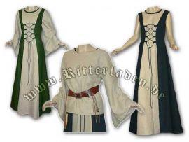 Ensemble robe médiévale à lacets et blouse Isabella jusqu'au 42 | bleu | jusqu'à 176 cm