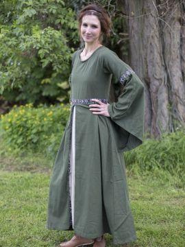 Robe médiévale vert forêt L