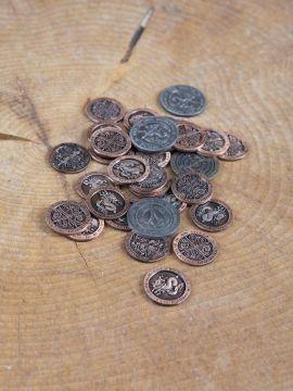 Pièces de monnaie GN Feu avec pochette en cuir